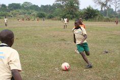 Playing soccer in Uganda www.simoneskids.com Hope In God, Soccer Match, Primary School, Uganda, Couple Photos, Couple Shots, Elementary Schools, Couple Pics