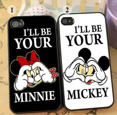 Mickey And Minnie Heart Hand Couple Cases Disney by gardashop