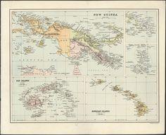 New Guinea, 1880s #map #newguinea #png