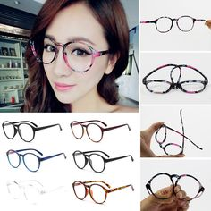 Fashion Optical Glasses Frame Eyeglasses With Clear Glass Men Women Vintage Round Clear Transparent Women's Glasses Frames F25