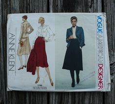 Vogue American Designer Anne Klein 1789 1970s by EleanorMeriwether