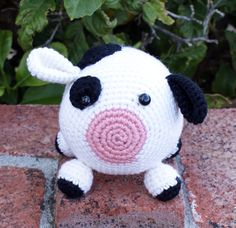 Skill Level: EasyThis cute little cow is part of the Roly Poly Family. He is the perfect beginner project for someone wanting to try amigurumi crocheting, and would make a great gift for any animal lover.Using basic stitches and minimal shaping (increasing and decreasing is all you need to know), you can easily crochet this little guy up in one evening. This cow is a great starter amigurumi because it works from basic shapes to create a cute finished product. Be sure to chec...