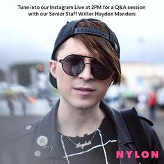 Today at 2pm EST our Senior Staff Writer @dont_bhayden will be on our Instagram Live talking about what it's like to work at NYLON and taking all of your questions Tune in!!  via NYLON MAGAZINE OFFICIAL INSTAGRAM - Celebrity  Fashion  Haute Couture  Advertising  Culture  Beauty  Editorial Photography  Magazine Covers  Supermodels  Runway Models