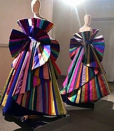 A dress shouting for attention by color so much, people will not look at the person wearing it (Roberto Capucci)