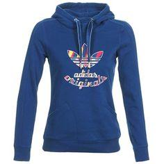 La marca Adidas Originals fija su firma en este modelo en algodón (70%) y poliéster (30%) y corte perfecto en color azul. Clasificada como imprescindible, te encantará. #sudadera #moda #mujer #chaqueta #spartoo #adidas http://www.spartoo.es/adidas-Originals-PARIS-SLIM-HOODY-x1838357.php