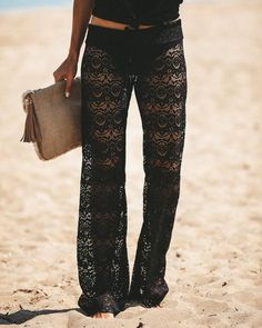 VICI Collection - Flying To Fiji Lace Pants.$52.00 Fly To Fiji, Flare Leg Pants, Lace Pants, Spirit Wear, Vacation Outfits, Summer Wardrobe, Racerback Tank, Ready To Wear, Girl Fashion
