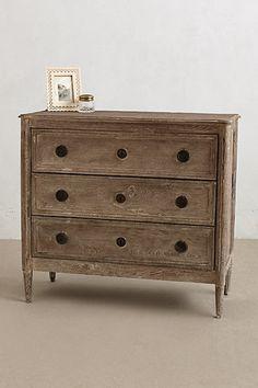 washed wood dresser #anthrofave