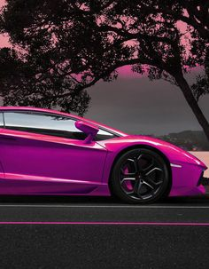 WOOAAAHHH! This Purple Lamborghini is to die for! Hit the image to see it in full.