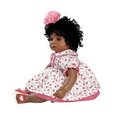 Black Baby Doll African American Toy Playtime Pretend Girls Pre-School Brown Fun
