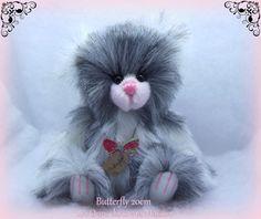 Butterfly ours d'artiste fausse fourrure par unoursdansmamaison