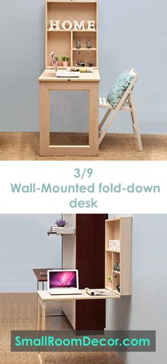 Top 9 Small Bedroom Storage Ideas is part of Organization Bedroom Desk - The bed takes up most of the space in our small bedrooms So, it's rational to also use it for item storage Being a part of the bed, the headboard is an Small Room Desk, Desks For Small Spaces, Small Space Office, Small Rooms, Girls Bedroom Storage, Bedroom Desk, Bedroom Organization, Organizing Small Bedrooms, Small Bedroom Furniture