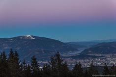 Unglaubliches Licht über Villach und der Gerlitzen kurz nach Sonnenuntergang. 06.01.2017