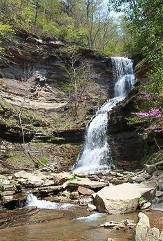 Roadside waterfall - Near Charleston, West Virginia - my father is from Charleston and I have fond memories of going to visit my grandparents,