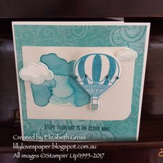 A quick card today using a leftover watercolour piece on my desk.   the Lift Me Up set is great for quick cards because there is so much det...