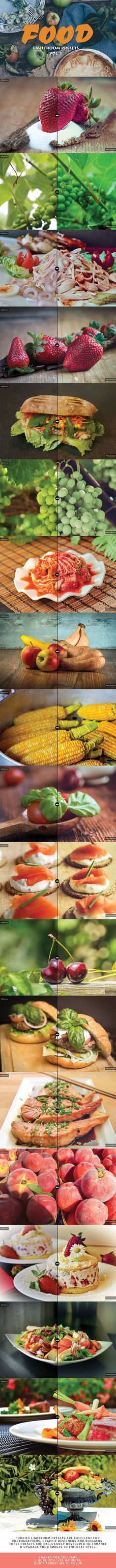 20 Food Lightroom Presets Ver. 1 by creativewhoa Food Lightroom Presets collection is a set of 20 presets for Adobe Lightroom that helps food photographers to make their shots yu