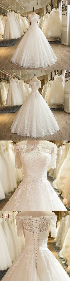Wedding Dresses: New White/Ivory Wedding Dresses Lace Bridal Gown Custom Size 6-8-10-12-14-16 18+ BUY IT NOW ONLY: $158.99