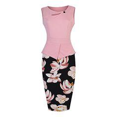 POZON Women's Elegant Chic Bodycon Formal Dress - New Dresses Special Today
