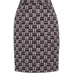 Oscar de la Renta Metallic bouclé-tweed pencil skirt (5,925 ILS) ❤ liked on Polyvore featuring skirts, pink, pink pencil skirt, oscar de la renta, metallic pencil skirt, oscar de la renta skirt and boucle skirts