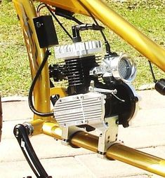 Motorized bike 3 speed transmission system and jackshaft component [ shift kit ]. Gas Powered Bicycle, Bicycle Engine Kit, Bicycle Sidecar, Custom Trikes, Motorised Bike, Lowrider Bike, Motorized Bicycle, Chopper Bike, Harley Bikes