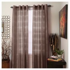 """Yorkshire Home Maggie Grommet Curtain Panel - Chocolate (Brown) (54""""x"""