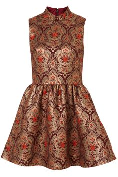 Topshop - Brocade Skater Dress: Perfection! The cut, fit, and the print is to die for.