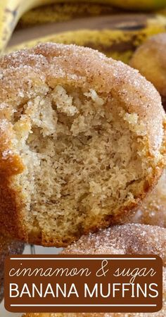 Banana Muffins taste like banana bread with a sweet cinnamon & butter topping. All you need is one bowl. No mixer needed! Banana Dessert Recipes, Banana Bread Recipes, Köstliche Desserts, Delicious Desserts, Yummy Food, Healthy Desserts With Bananas, Recipes For Overripe Bananas, Baking With Bananas, Recipes With Bananas