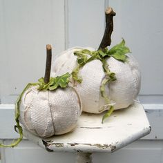 great burlap pumpkins