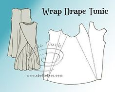 Pattern Puzzle - Wrap Drape Tunic (well-suited)