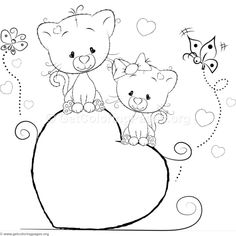 Cute Cat 21 Coloring Pages Cat Coloring Page, Doodle Coloring, Colouring Pics, Coloring Book Pages, Printable Coloring Pages, Coloring Pages For Kids, Coloring Sheets, Butterfly Drawing, Art Drawings For Kids