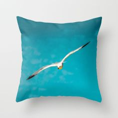 Seagull   by Loredana | Society6 #Throw #Pillow