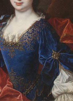 Françoise Marie de Bourbon by François de Troy (detail)