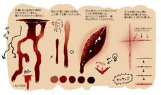 Manga Drawing Even more blood stuff, with a focus on flow from the wounds themselves. Drawing Techniques, Drawing Tips, Drawing Reference, Drawing Tutorials, Art Tutorials, Digital Painting Tutorials, Digital Art Tutorial, Art Sketches, Art Drawings