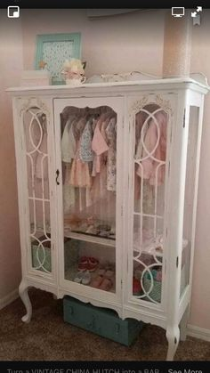 Turn a vintage China hitch into a baby closet.