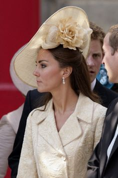 Catherine, Duchess of Cambridge's hat by Gina Foster Millinery from her Kensington Spring 2011 collection.