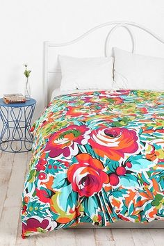 Bouquet Duvet Cover.  I kinda love this too.  Guest room?