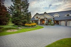 Creative Landscape, Landscape Design, Paving Stones, Landscaping Company, British Columbia, Front Yards, Mansions, House Styles, Natural
