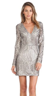 Gorgeous long sleeve sequin dress