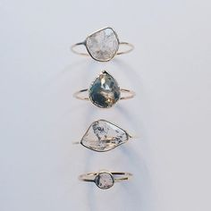 Vale Jewelry Diamond slice and rose cut diamond rings