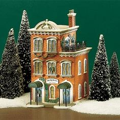"Department 56: Products - ""Ivy Terrace Apartments"" - View Lighted Buildings I HAVE IT!!!"