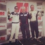 The Aston Man edged out a Viper to take P2 in his first SCAA race!