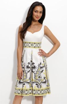 12552312242  128 yellow and gray Maggy London print bridesmaid dress. Nordstrom Shower  Dress For Bride
