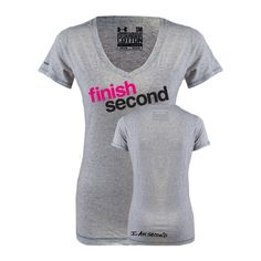 I Am Second Ladies Under Armour Grey Charged Cotton V-Neck