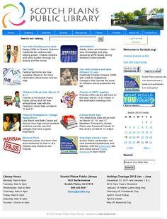 Scotch Plains Public Library website, built in WordPress http://www.scotlib.org