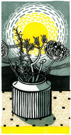 """Rinour "" wood engraving print by Angie Lewin"
