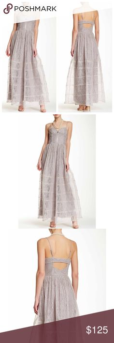 "Betsey Johnson Lace Maxi Dress Beautiful Betsey Johnson Dress. Sweetheart neck. Adjustable spaghetti straps. Exposed front zip closure. Allover lace. Back cutout. Lined. Approx. 59"" length Betsey Johnson Dresses Maxi"