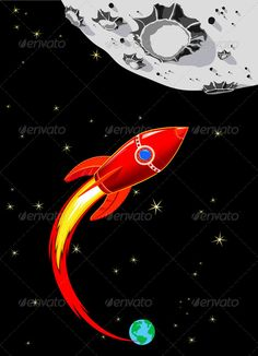 Rocket Spaceship to the Moon  #GraphicRiver         Retro Rocket Spaceship to the Moon   Spaceship heading towards the Moon  Zip Pack Contains: ILLUSTRATOR VECTOR FILES   CS4.ai, 10.eps and 8.eps – Each object is on a separate layer   PHOTOSHOP FILES   JPEG 4712×6524 px – 88mb        Created: 15May13 GraphicsFilesIncluded: JPGImage #VectorEPS #AIIllustrator Layered: Yes MinimumAdobeCSVersion: CS Tags: alien #astronaut #astronomy #cartoon #clipart #earth #flight #fly #futuristic #launch #moon…