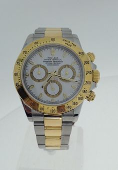 Search results for: 'watches pre owned gents bi metal rolex daytona cosmograph' Men's Rolex, Rolex Watches For Men, Rolex Daytona, Watch Brands, Jewels, Metal, Stuff To Buy, Accessories, Mens Watches Rolex