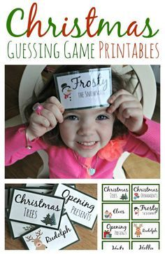 Christmas Guessing Game Printables Earlier this month in my Counting Down to Christmas post I shared that my family was marking each day of before Christmas with a fun activity. We read stories, Xmas Games, Christmas Games For Family, Christmas Post, Winter Christmas, Christmas Crafts, Christmas Decorations, Fun Games, Christmas Headbands, Youth Games