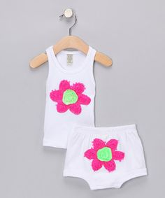 White   Pink Daisy Tank   Diaper Cover - Infant  32.99 Pink Daisy d06e119a69d4