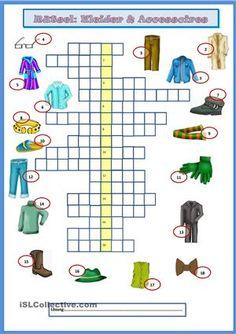 Rätsel lösen, Wortschatz wiederholen - Viel Spaß damit! - DaF Arbeitsblätter